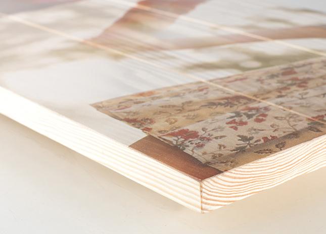 Fafotó nyomás 4 cm vastag fenyő lécre
