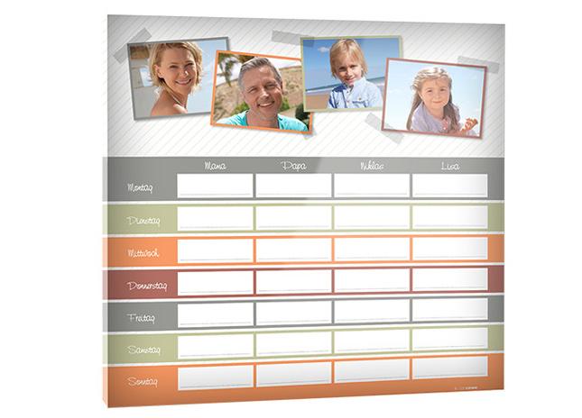 Calendar tip agendă pe sticlă acrilică