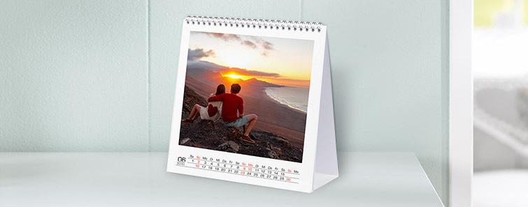 Calendar de birou tip pătrat – mare
