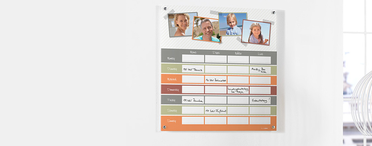 Narudžba obiteljskog akrilnog planera- cewe