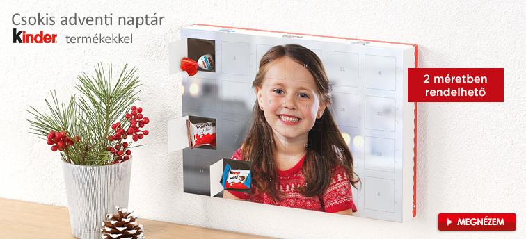 Csokis adventi naptár kinder® termékekkel