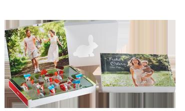 Cutie foto cu produse kinder® pentru Paște