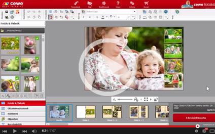 CEWE Fotóvilág szoftver oktató videók - videó lejátszása