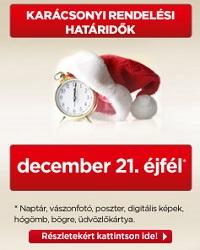 Karácsonyi rendelési határidők 2014