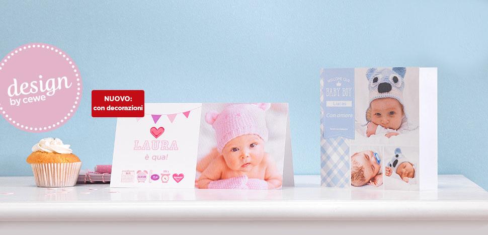 Creare cartoline per neonati con design