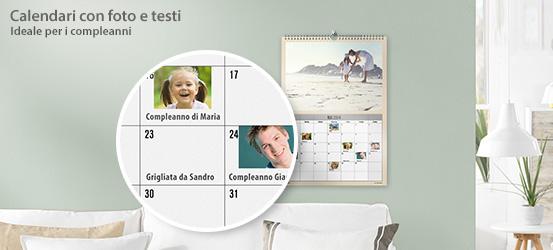 Calendario con foto e testi CEWE