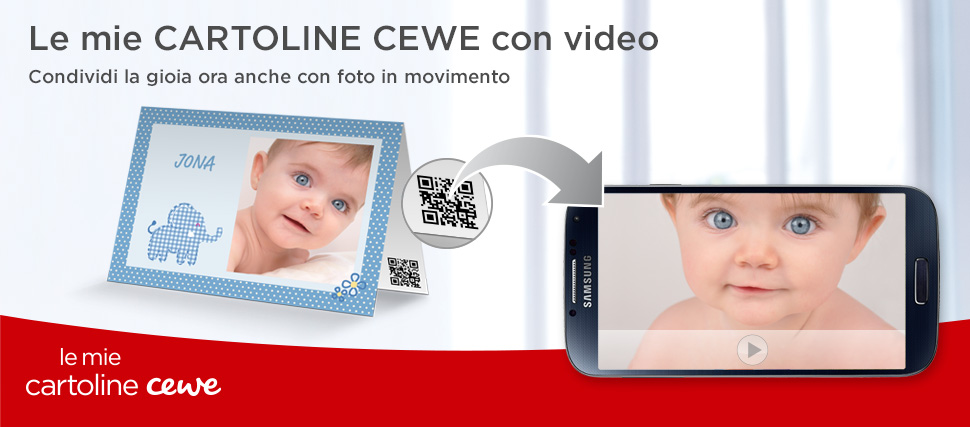 CARTOLINE CEWE – biglietti d'auguri con video