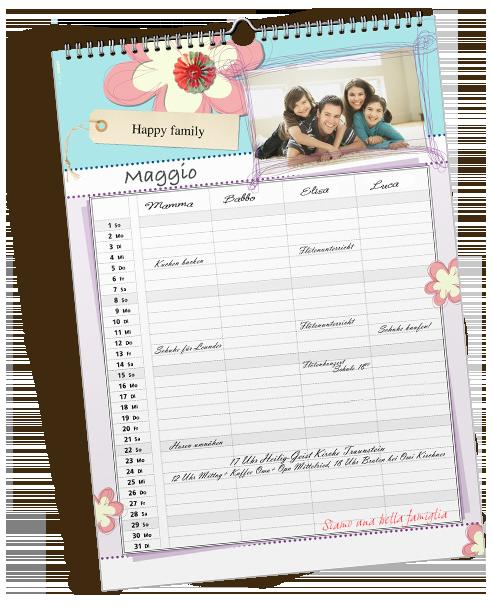 Il calendario Family