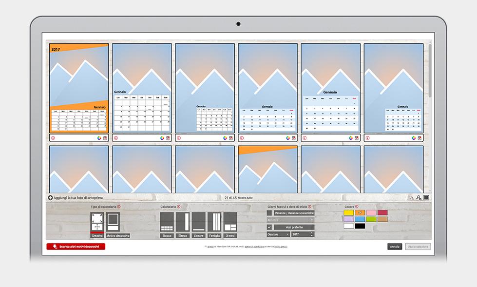 Designauswahl für Kalender