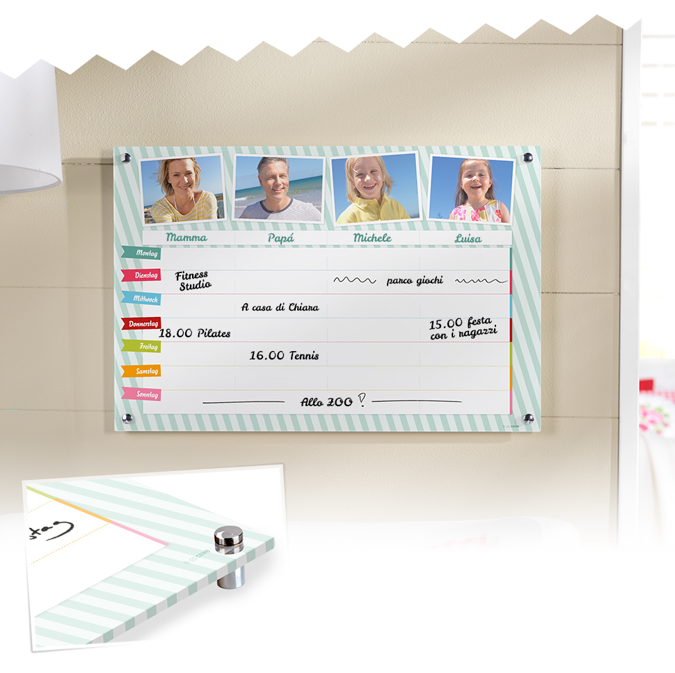 Calendario Family in Plexiglass