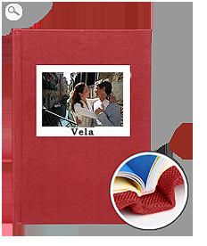 Rilegatura: copertina in tela rossa