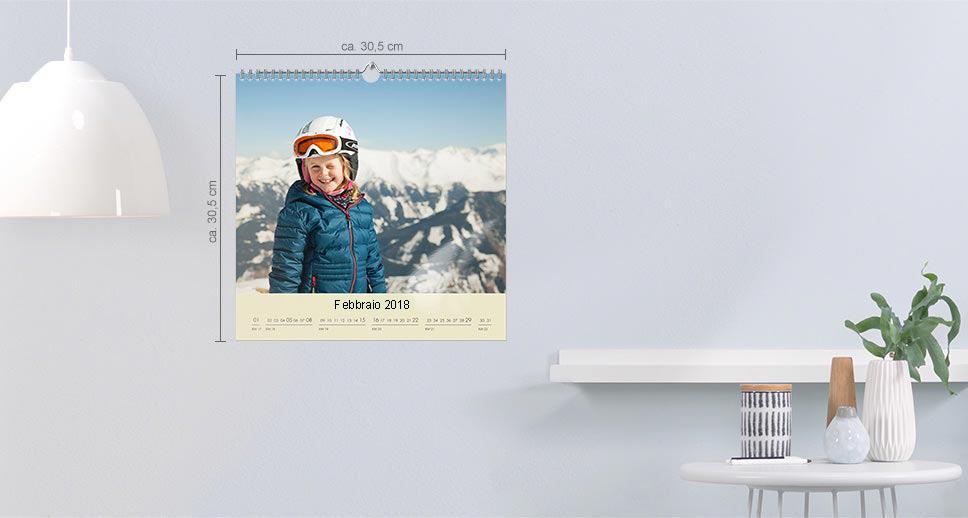 Calendario da parete quadrato