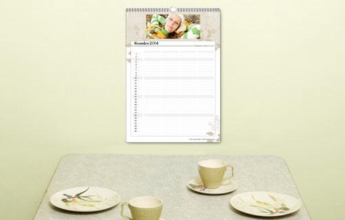 Descrizione calendario Family A3