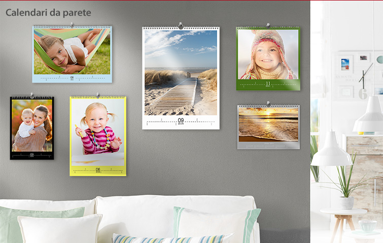 Calendari da parete, visione generle