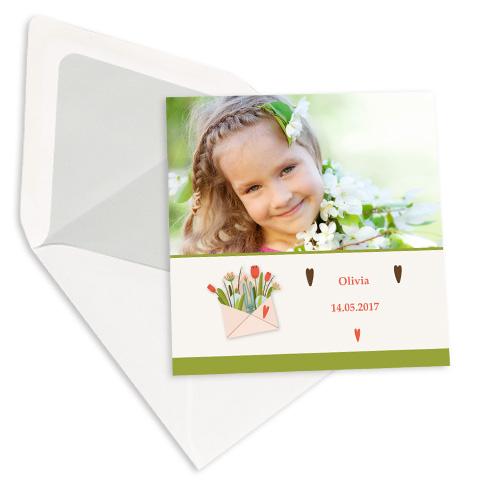 Dubbele kaarten 14x14 cm set van 10
