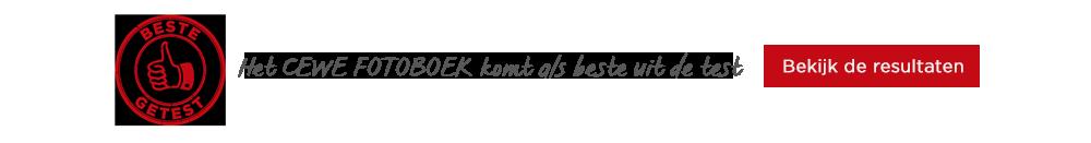 CEWE FOTOBOEKEN als beste getest bij Albert Heijn