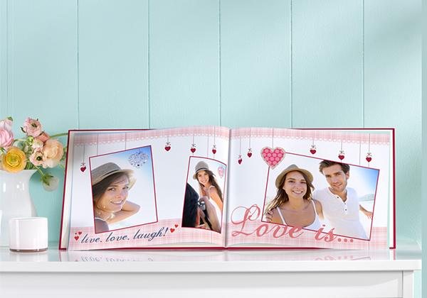 Fotoboek compact liggend met liefdesfoto's