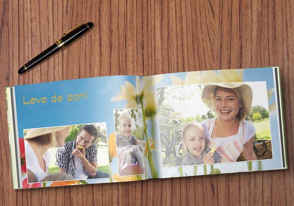 Fotoboek compact liggend met foto's van een parkuitstap