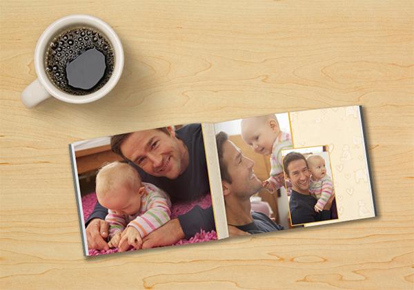 Fotoboek mini met babyfoto's