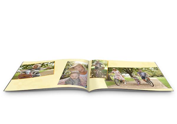 Fotoboek mini met foto's van een fietstocht