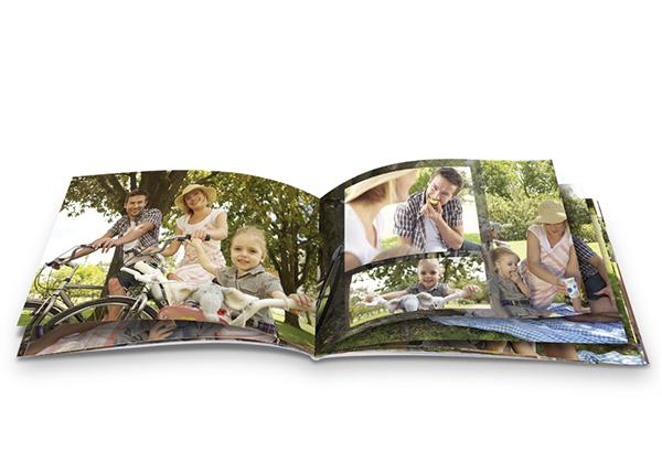 Fotoboek mini met foto's van een picknick