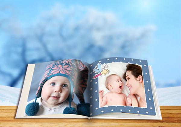 Fotoboek XL met babyfoto's