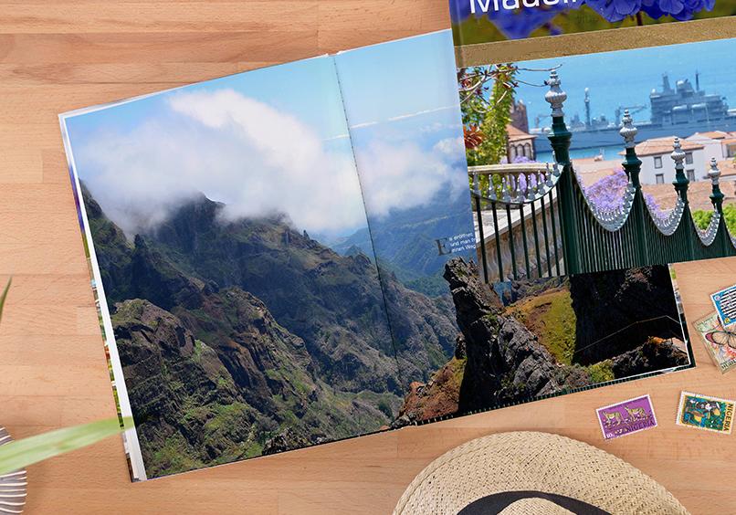 fotoboek xxl staand met foto's van Madeira