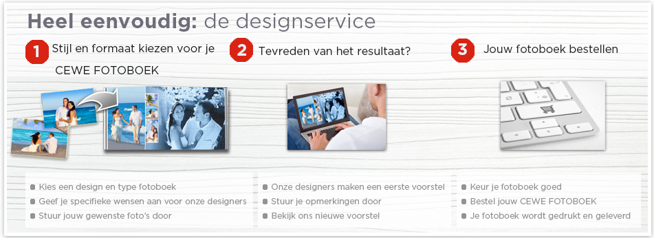 3 stappen tot designservice