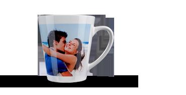 Een latte machiato beker met jouw eigen foto