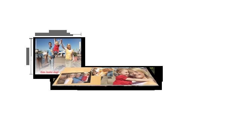 CEWE FOTOBOEK compact liggend: fotopapier mat