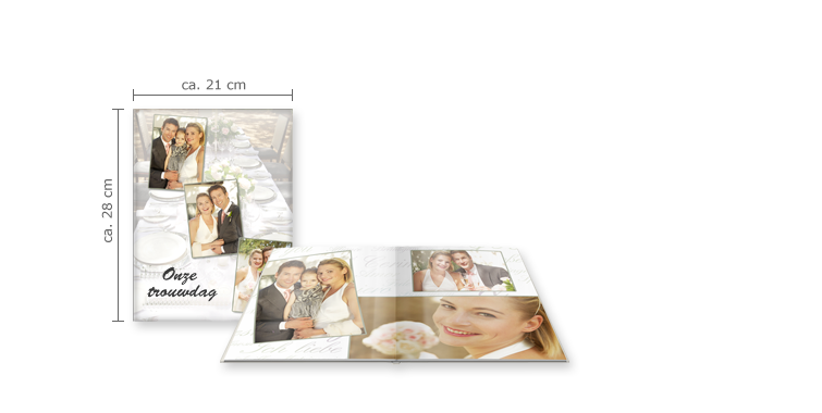CEWE FOTOBOEK large staand: glanzend fotopapier