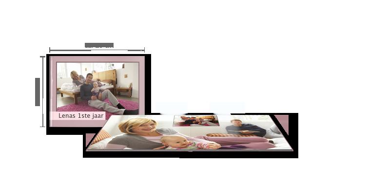 CEWE FOTOBOEK large liggend: glanzend fotopapier