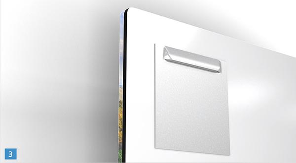 Aluminium haak galerijprint