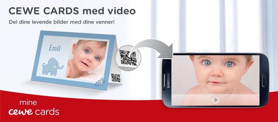 CEWE CARDS – kort og invitasjoner med video
