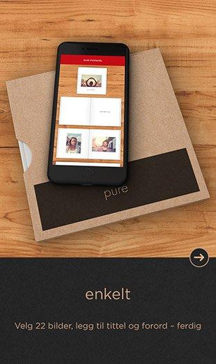 CEWE FOTOBOK Pure app - enkelt