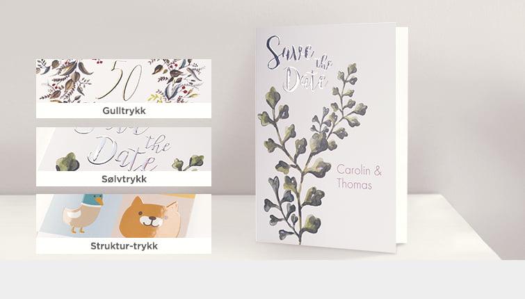 CEWE CARDS med effektlakk