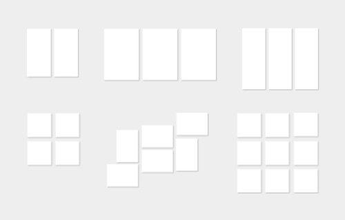 Oversikt over alle flerdelte veggdekorasjoner