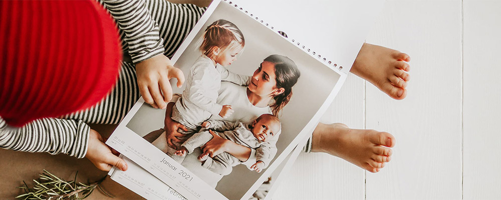 12 flotte bilder i en kalender