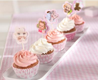 Cupcakes med bringebær og youghurt