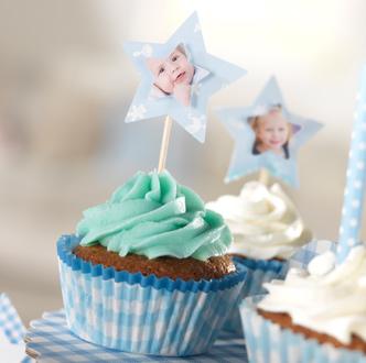 Blåbærcupcakes