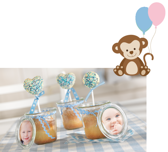 Cakepops og rabarbrakake i glass