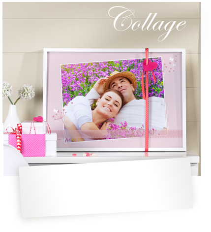Parets kjærlighetshistorie som collage