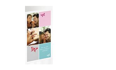 FOLDEKORT XL HØYFORMAT - Prisen gjelder 10 kort, med konvolutter inkludert!