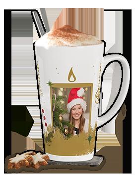 Café latte krus - stor