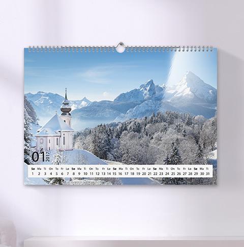 Veggkalender A3