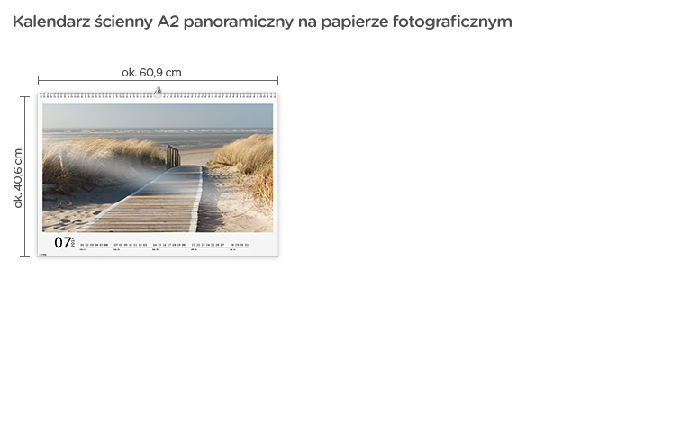 Kalendarz ścienny A2 Panorama