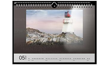 Kalendarz ścienny A3 na papierze foto