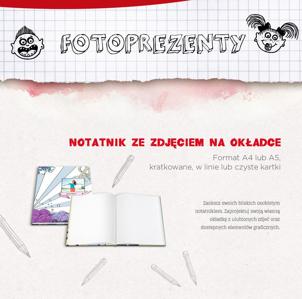 Notes ze zdjęciem na okładce