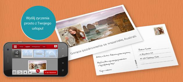 Pojedyncza pocztówka z programu CEWE FOTOŚWIAT App