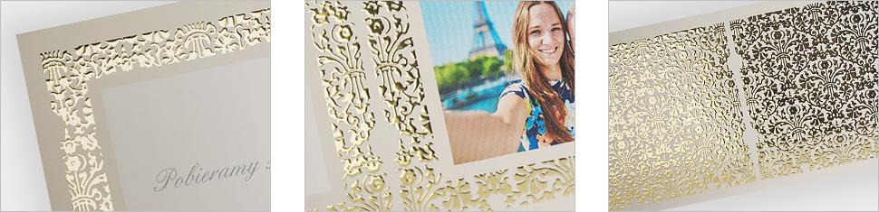 Zaprojektuj zestaw ślubny uszlachetniany złotem